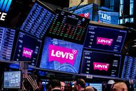Trading On The Floor Of NYSE As Levi Strauss & Co. Releases IPO