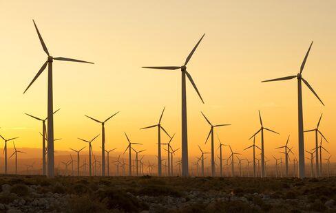 Wind turbines in Palm Springs, California