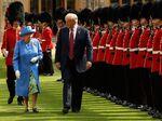 トランプ米大統領とエリザベス英女王