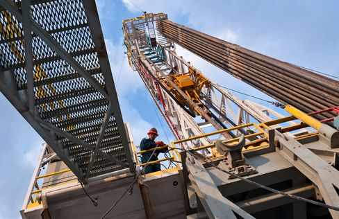 A Drilling Rig Sits in Webb County, Texas