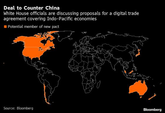 Biden Faces Hard Sell in Asia for Anti-China Digital Trade Pact