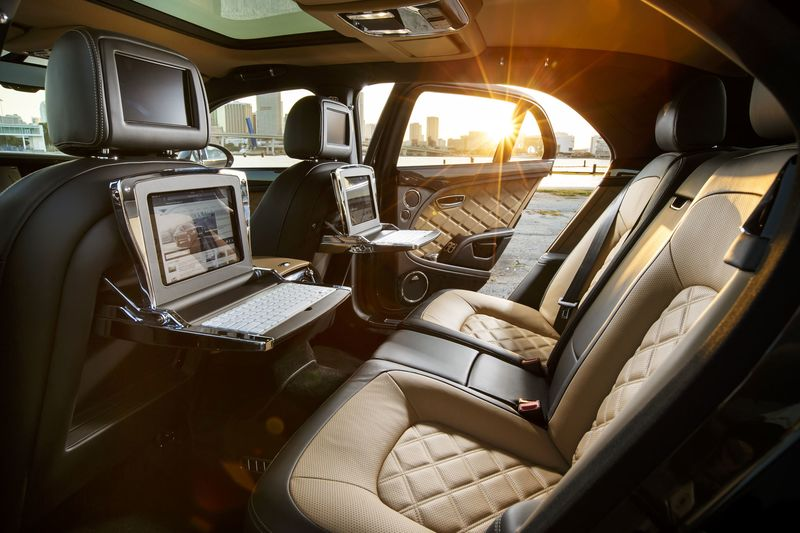 mulsanne speed interior. the rear of car is where it really shines quilted massaging seats recline or mulsanne speed interior