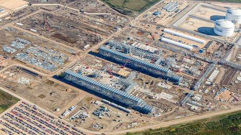 Sabine Pass Terminal Under Construction