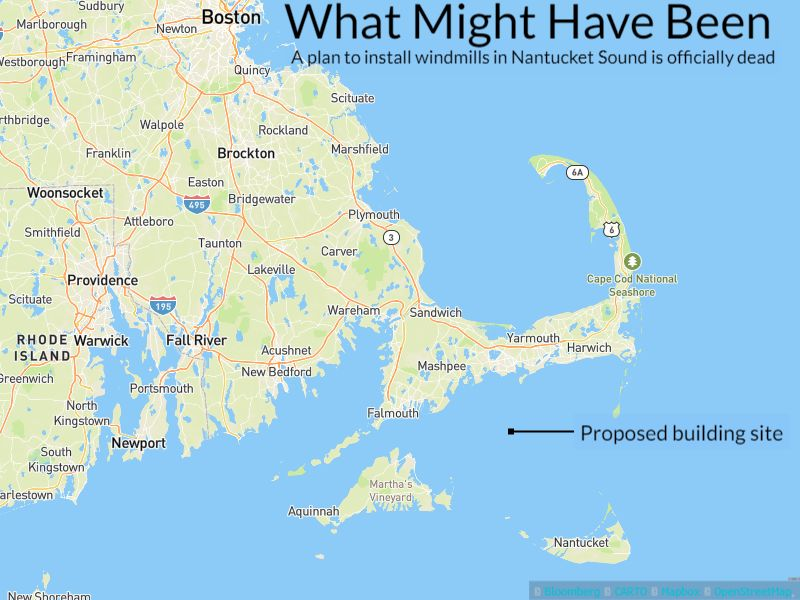 What Was Once Hailed As First US Offshore Wind Farm Is No More - Cape cod location us map