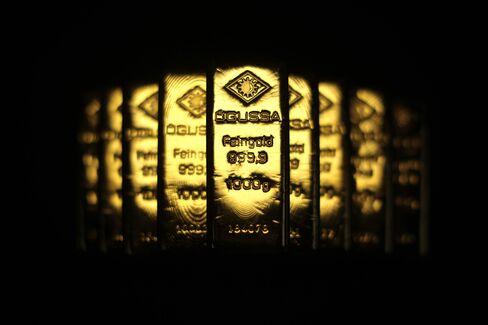 Newly manufactured one kilogram gold bars.