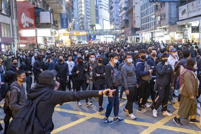 Demonstrators March On The Streets In Hong Kong As Protesters Try To Keep Heat On China Into 2020