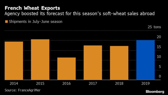 France Banks on Pickup in Wheat Exports to Reduce Big Stockpile