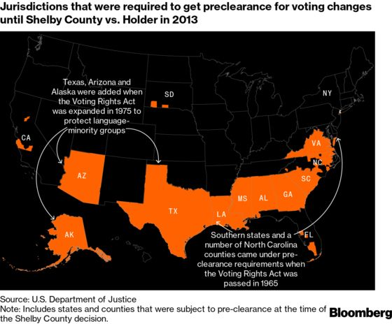 GOP's Voting Curbs Show Long Reach of 2013 Supreme Court Ruling