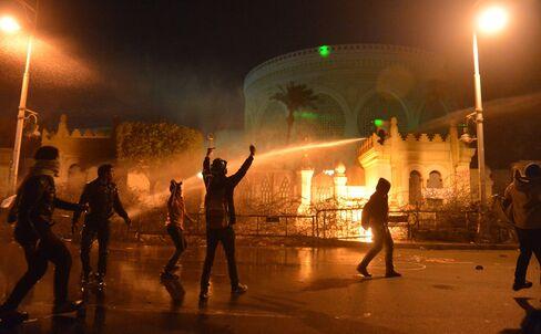 Egyptians Rally Against Mursi on Mubarak Ouster Anniversary