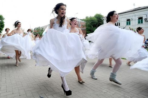 Here Comes a Plane Full of NYC Brides