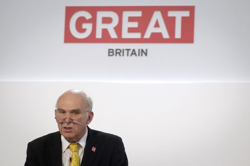 U.K. Business Secretary Vince Cable