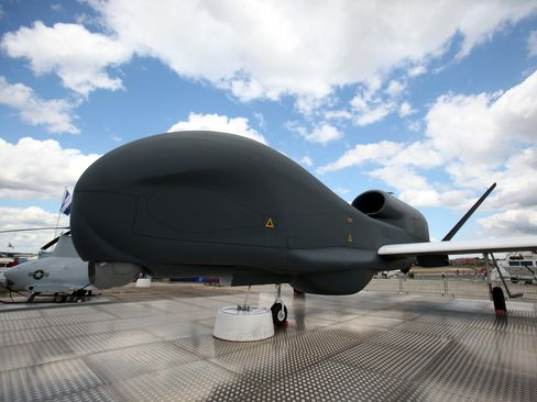 The maker of Global Hawk drones, the fifth-largest defense contractor, is battling a pullback in military spending as it vies for a new bomber contract to be awarded this year.