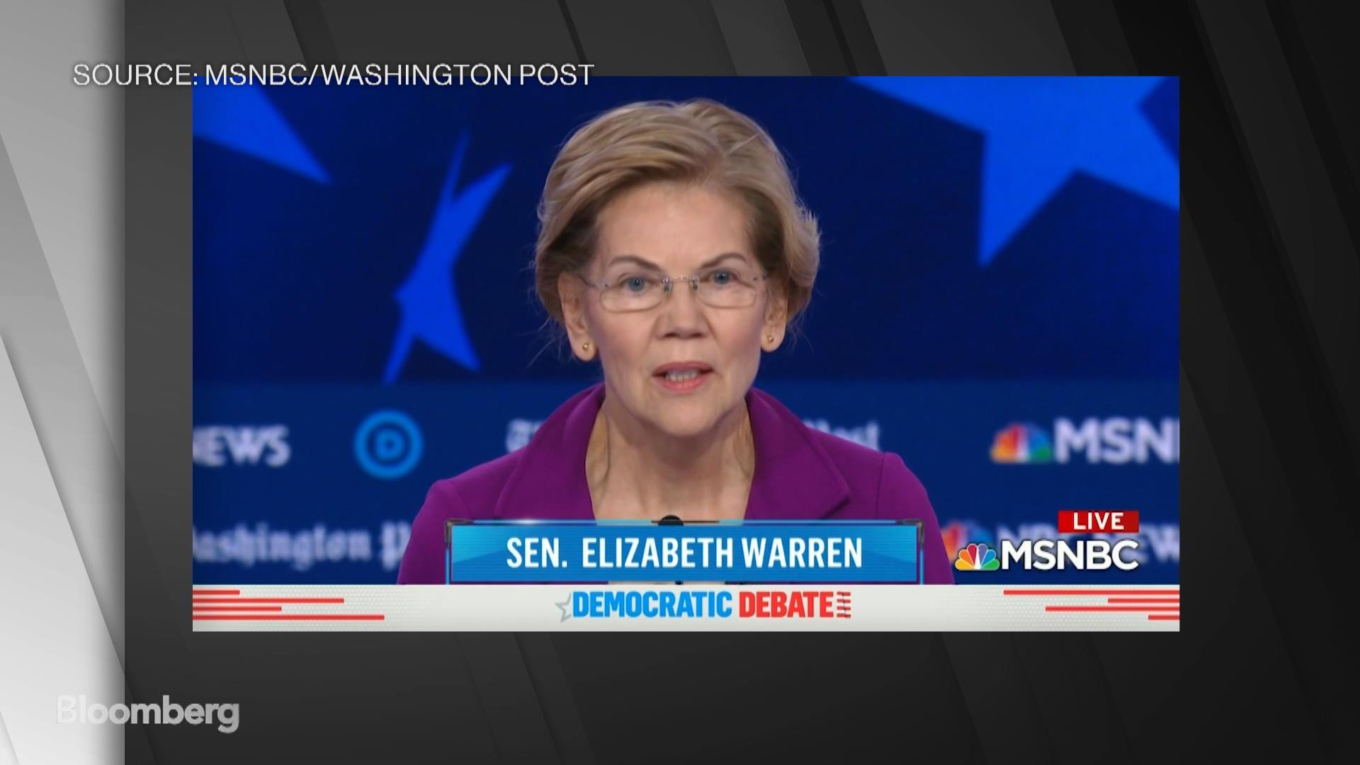 Sen. Warren Says She's 'Tired of Freeloading Billionaires'