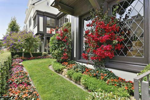 小さめの庭もある-眺望が素晴らしい