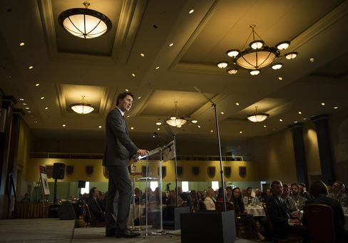 Liberal Party of Canada Leader Justin Trudeau Speaks At The Canadian Club of Toronto