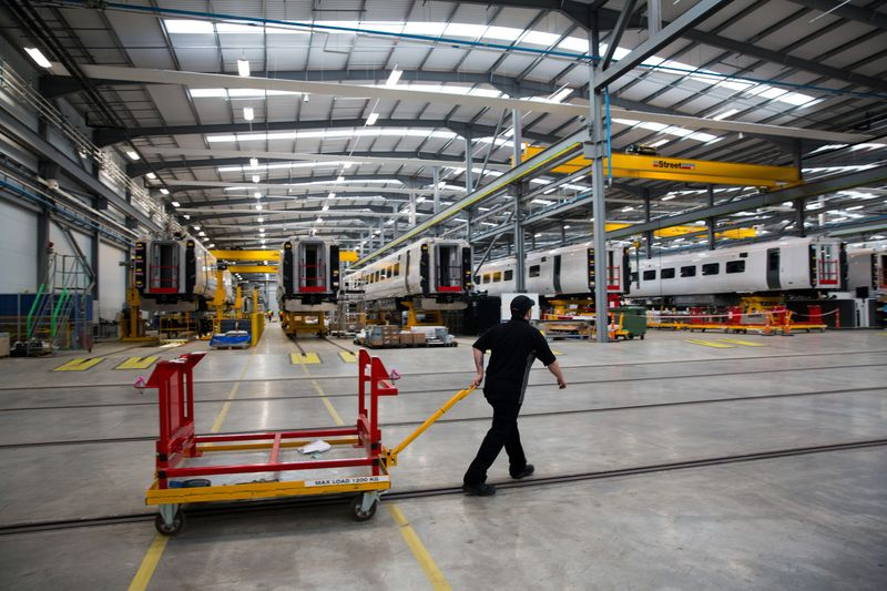 Manufacturing Of Trains At Hitachi Rail Europe Ltd.'s Rail Vehicle Manufacturing Facility