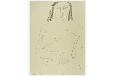 Joshua Abelow,Self-Portrait as a Woman(2009)