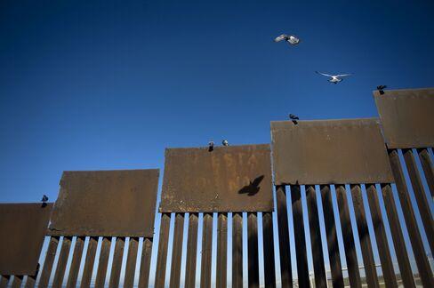 米国とメキシコ国境沿いの壁