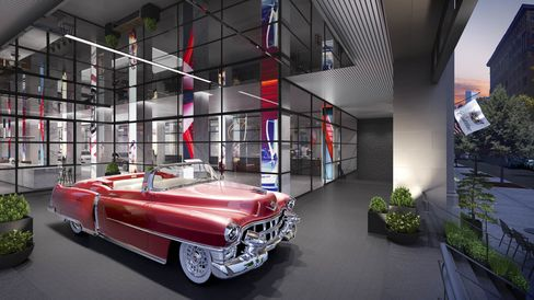 Cadillac has declined to say which models it may feature in the space but noted that one or two could be vintage-era cars.