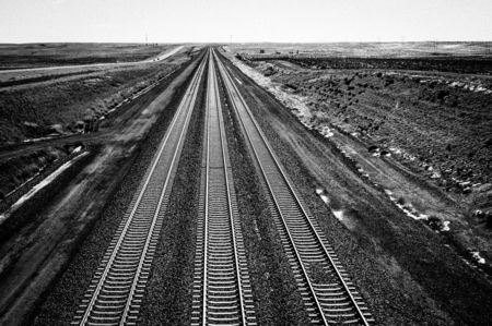 Rail lines for coal trains that leave the Powder River Basin.