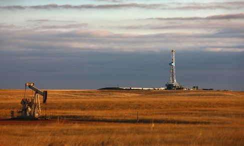 An Oil Drilling Rig on the Bakken Formation in Watford City
