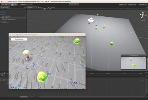 A demonstration of the Mapbox plugin for Unity game engine.