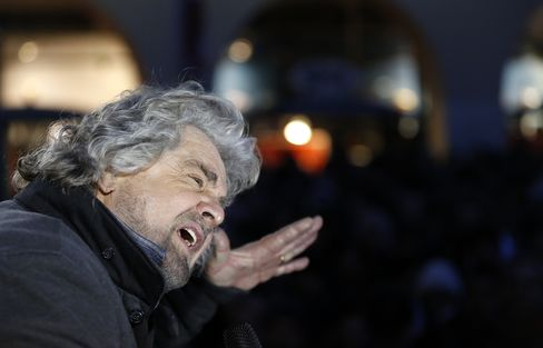 Five Star Movement Leader Beppe Grillo