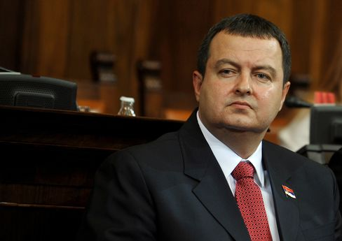 Serbia's Prime Minister Ivica Dacic