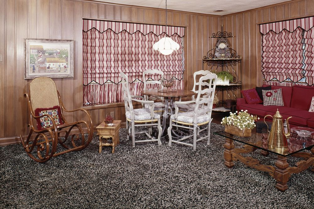 Wall To Carpeting In This 1960s 1970s Living Room