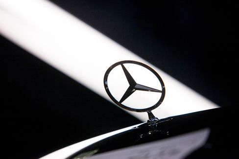 A Hood Ornament Sits on a Mercedes-Benz S-Class Automobile