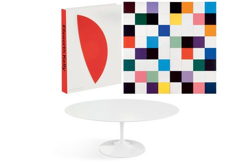 Pictured: Ellsworth Kelly's Colors for a Large Wall, 1951 (top); Eero Saarinen's iconic coffee table (bottom).