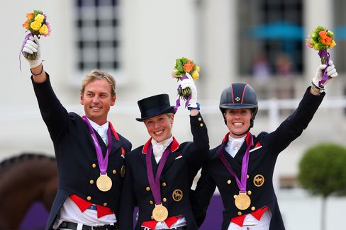 Billionaire's Granddaughter, Donkey Rider Clinch Dressage Gold