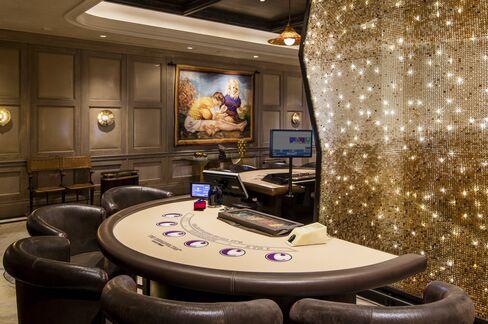 A blackjack table.