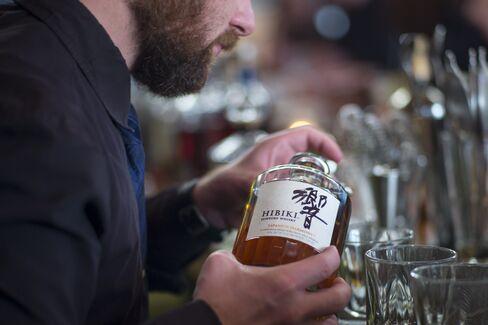 Hibiki Suntory Whisky served at a San Francisco bar.