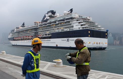 Hong Kong Turns Airport Into Cruise Terminal to Woo Rich Chinese