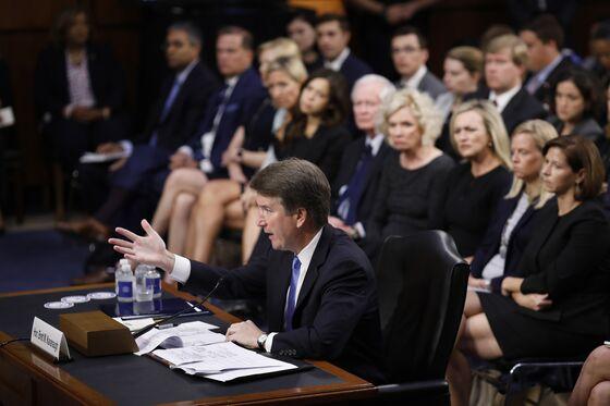 Kavanaugh Ducks Questions on Trump, Roe in Marathon Senate Day
