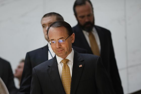 Conservatives Push to Impeach Rosenstein as DOJ Defends Actions