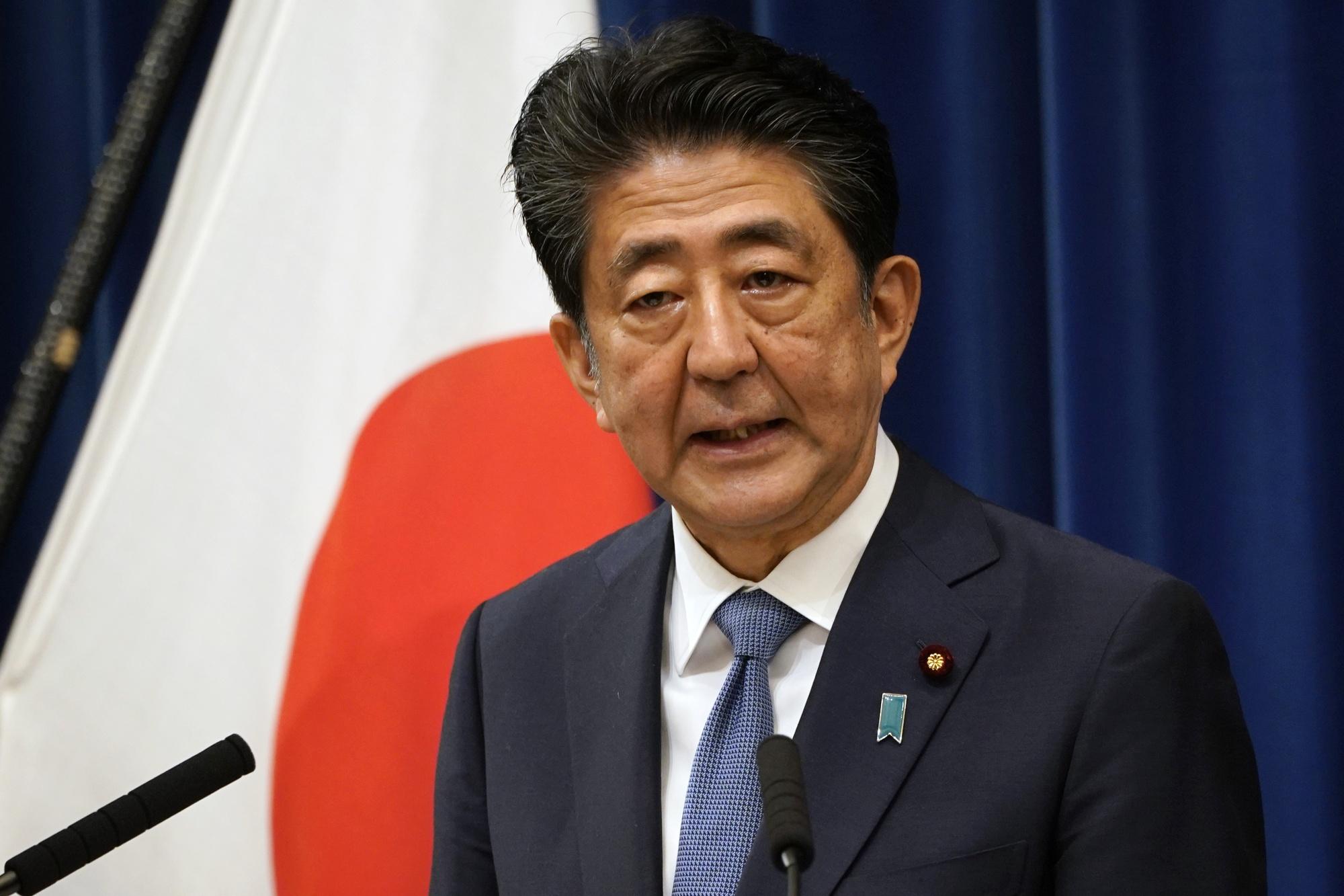 Shinzo Abe on Aug. 28.