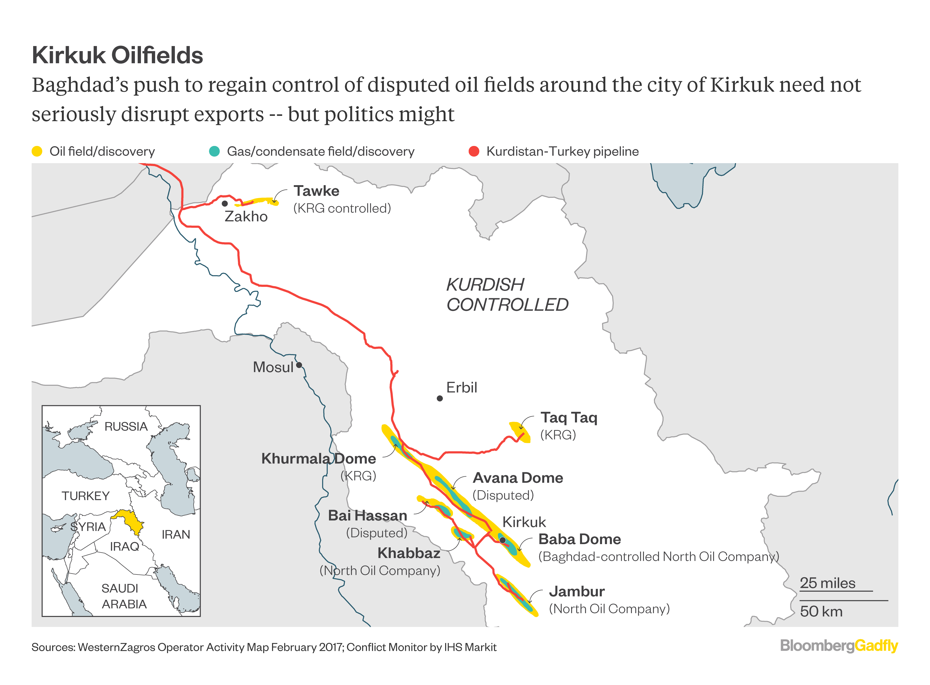 This Map Shows Why Oil Can Weather Iraqs Kirkuk Campaign - Map of us troops on iraq and oil piplines