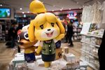 Goods of Nintendo game character Isabelle, known as Shizue in Japan, from the Animal Crossing series.