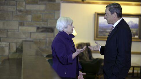 U.S. Fed Chair Janet Yellen & ECB President Mario Draghi