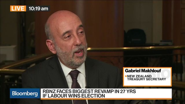 New Zealand Treasury Secretary Gabriel Makhlouf discusses the election and the possibility of an RBNZ revamp