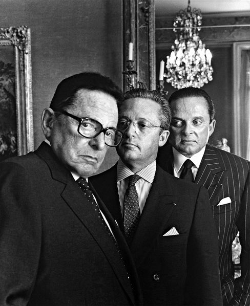 """(l-r) Daniel, Guy, and Alec, photographed by Helmut Newton in 1999""""When you were super rich and wanted to show off, you'd go to Wildenstein's. You could tell everyone back in Chicago, 'Oh, I was in Wildenstein's the other day. I'm thinking of buying a Raphael.'"""""""