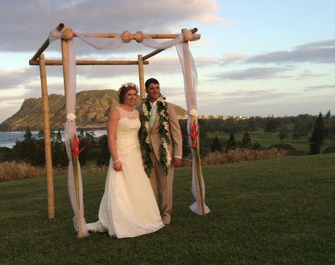 Natalie Heimel and Edward Mallue are married Sunday in Hawaii