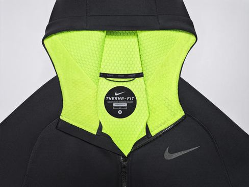 """Nike's new winter workout jacket comes with an adjustable """"scuba hood."""""""