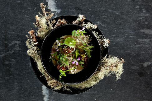 Forager's Stew at The Restaurant at Meadowood.