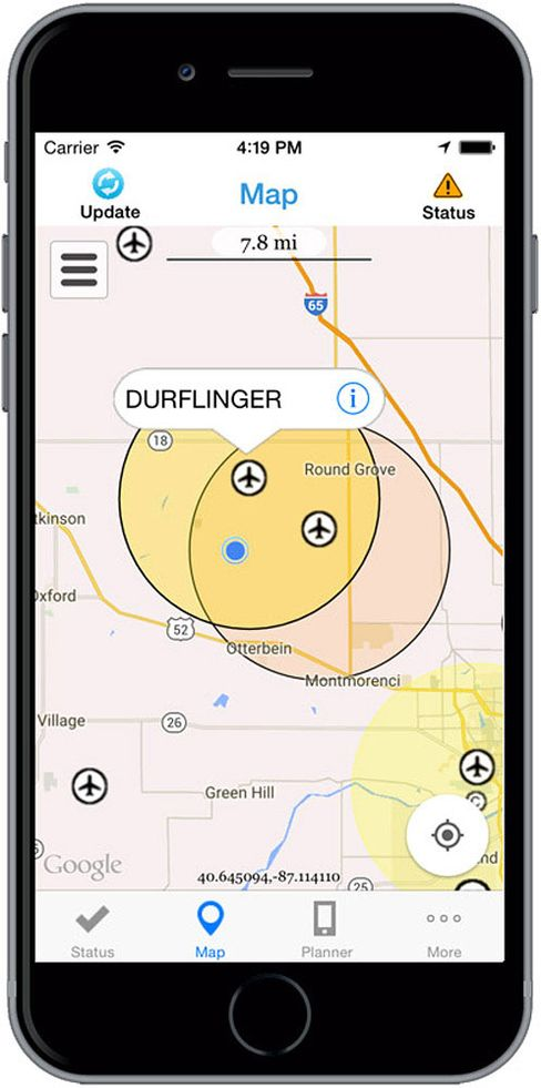 The FAA is testing a smart-phone app that shows drone users where it's safe to fly.