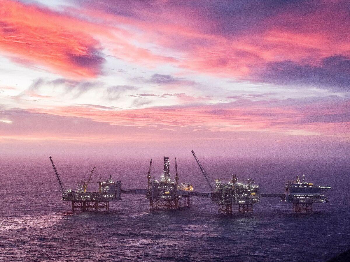 Il giacimento petrolifero Johan Sverdrup nel Mare del Nord ad ovest di Stavanger, Norvegia.