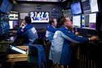 Trading On The Floor Of The NYSE As U.S. Stock Futures Rise, Dollar Holds Gain