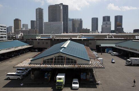 Tsukiji Market in Tokyo.